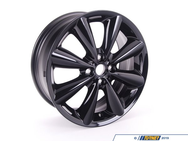 T#66649 - 36116791931 - Genuine MINI Light Alloy Rim, Black 7Jx17 Et:48 - 36116791931 - Genuine Mini -