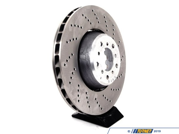 T#2526 - 34112282806 - Front Brake Rotor - Right - E60 M5 / E63 M6 (Floating) - This is one RIGHT FRONT brake disc for the 2006+ E60 M5 and E63 M6 V10 (also fits E64 M6 convertible). This is the stock floating style rotor, as the car equipped with from the factory. This is just one right front rotor, so be sure to purchase the other side if you are doing a full brake job. This RIGHT FRONT brake rotor fits:2006-2010 E60 M5 sedan2006-2010 E63 M6 coupe2006-2010 E64 M6 convertible / cabrio - Genuine BMW -