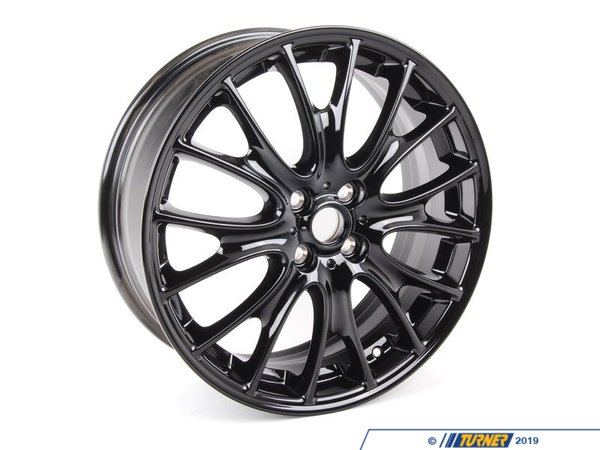 T#66571 - 36116785304 - Genuine MINI Light Alloy Rim, Black 7X18 Et:52 - 36116785304 - Genuine MINI -
