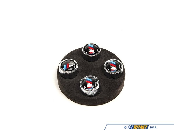 "T#44 - 36110421543 - Valve Stem Caps - ""///M"" Logo (Set of 4) - Genuine BMW - BMW"