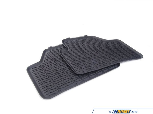 T#175522 - 51472336795 - Genuine BMW Floor Mats, All-Weather, Rear Anthr. - 51472336795 - Genuine BMW -