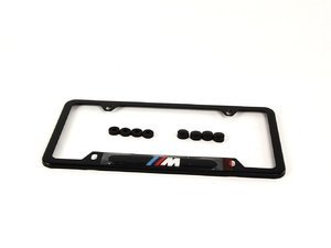 License Plate frame Black w/ M logo