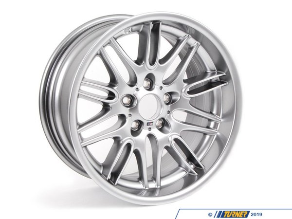 T#8195 - 36112228960 - E39 M5 18x9.5 M Double Spoke Style 65 Rear Wheel - Genuine BMW -