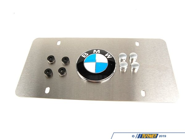 Genuine BMW Genuine BMW Vanity Plate - Satin Silver Aluminum 82121470312
