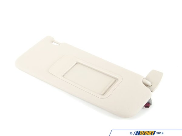 T#84185 - 51167248862 - Genuine BMW Sun Visor With Label, Right Oyster - 51167248862 - F10 - Genuine BMW -