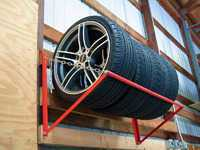 Wall-Mounted Wheel & Tire Storage Rack