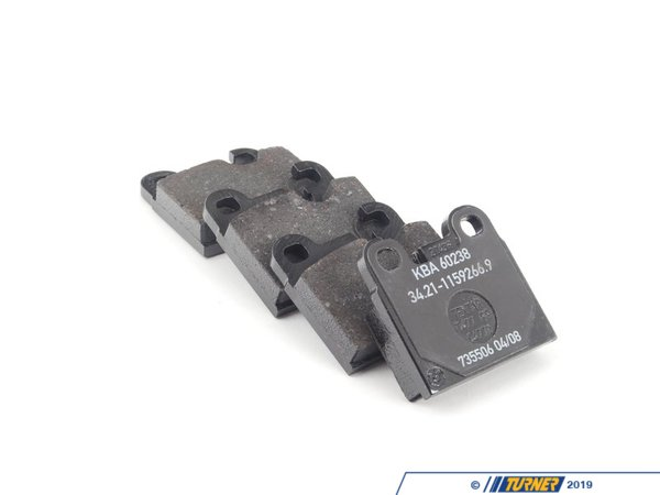 T#23019 - 34211159265 - Genuine BMW Repair Kit, Brake Pads - 34211159265 - Genuine BMW Repair Kit, Brake Pads Asbestos-Free - Textar T477 - Genuine BMW -