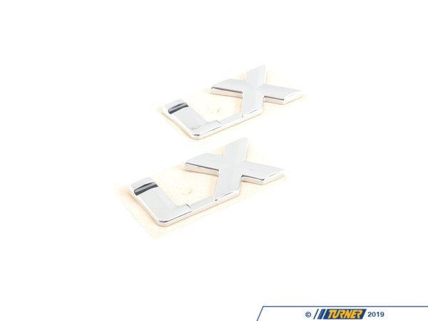 "T#80833 - 51141945034 - Genuine BMW Emblem Adhered Rear ""Ix"" - 51141945034 - E30 - Genuine BMW -"