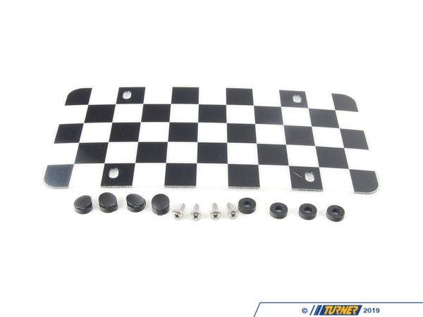 T#120090 - 51800406647 - Genuine MINI Marque Plate Checker Board - 51800406647 - Genuine MINI -