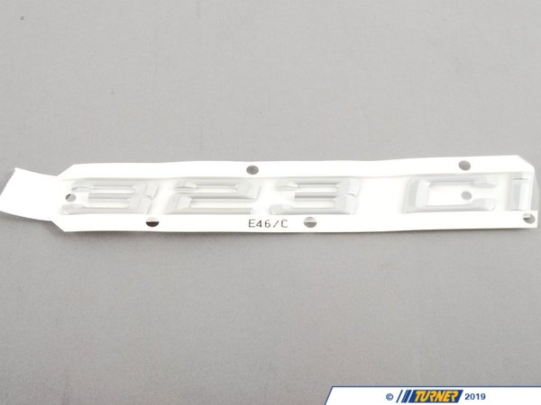 T#81082 - 51147004687 - Genuine BMW Emblem Adhered Rear - 323Ci - 51147004687 - E46 - Genuine BMW -