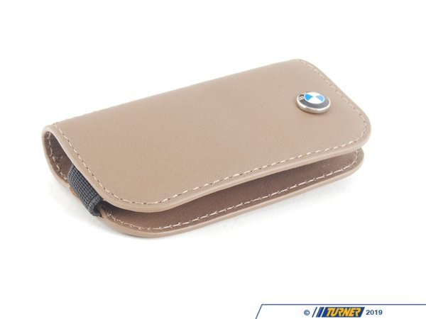 T#163897 - 80232336960 - Genuine BMW Leather Key Case-brown - 80232336960 - Genuine BMW -