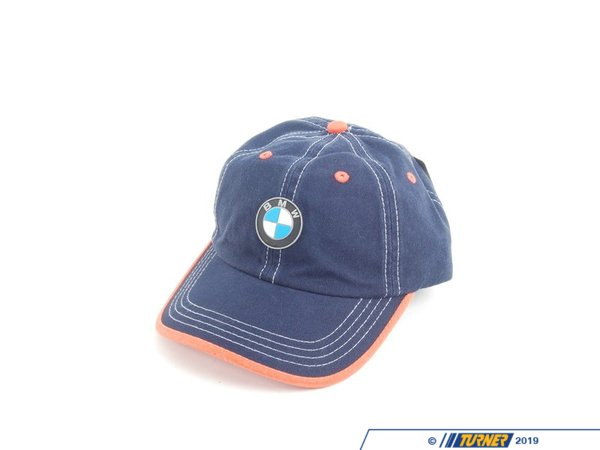 T#166702 - 80902311869 - Genuine BMW Youth Cap - Blue/orange - 80902311869 - Genuine BMW -