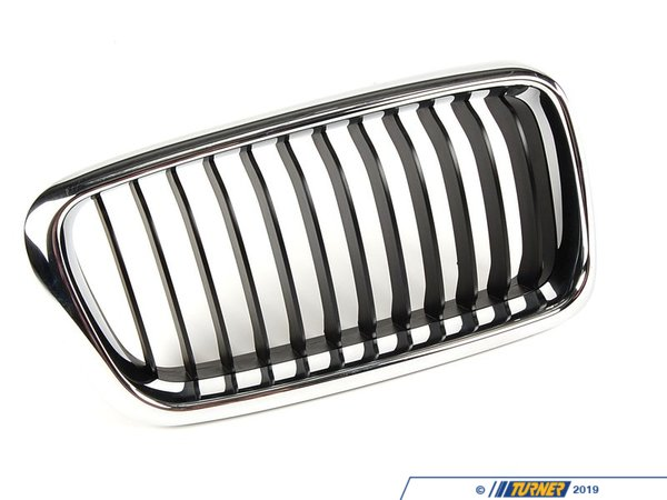 T#8796 - 51138231594 - Kidney Grill - Chrome - Right - E38 740i/il 1999-2001 - This Genuine BMW front right kidney grill for E38 7 series has the stock chrome trim with chrome slats. It is a direct snap in replacement for the stock grill. This item fits the following BMWs:1999-2001  E38 BMW 740i 740il 750il  - Genuine BMW - BMW
