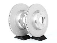 Front M Performance Dimpled Brake Rotors (370x30)(Pair) - F30, F32, F33, F34, F36