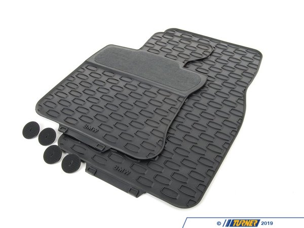 T#110049 - 51470429140 - Genuine BMW Kit Rubber Floor Mats Front Schwarz - 51470429140 - E63 - Genuine BMW -