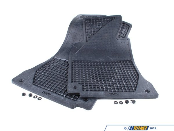 T#12865 - 82559405043 - Genuine BMW Set Rubber Mats Front Anthrazit - 82559405043 - E39,E39 M5 - Genuine BMW -