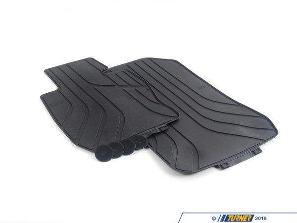T#110030 - 51472311000 - Genuine BMW Rubber Floor Mats (Anthracite) - E9X 325xi 328xi 330xi 335xi AWD - Genuine BMW -
