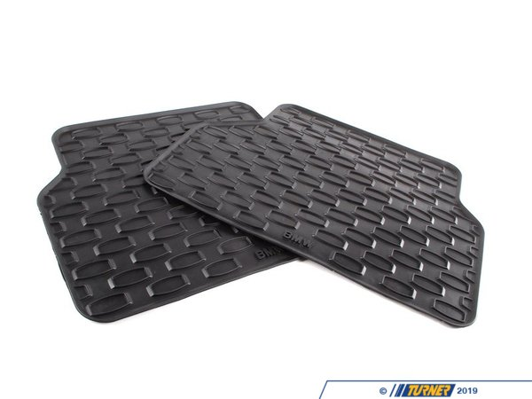T#109920 - 51470302703 - Genuine BMW Rubber Floor Mats Rear Anthrazit - 51470302703,E60 M5 - Genuine BMW -