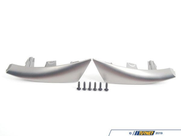 T#56609 - 32306766012 - Genuine BMW Set Of Decorative Clips Ruthenium - 32306766012 - Genuine BMW -
