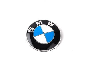 Genuine BMW Hood and/or Trunk Emblem With Grommets - Fits Most BMWs