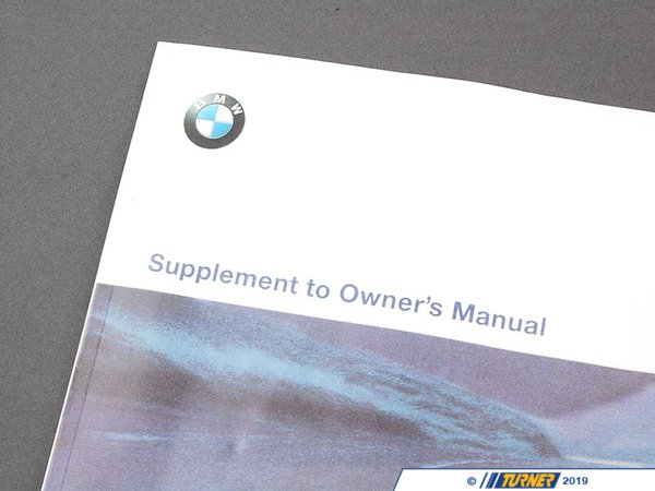 T#26807 - 01419791257 - Genuine BMW Suppl. Owner's Handbook Us-English - 01419791257 - E36 - Genuine BMW -