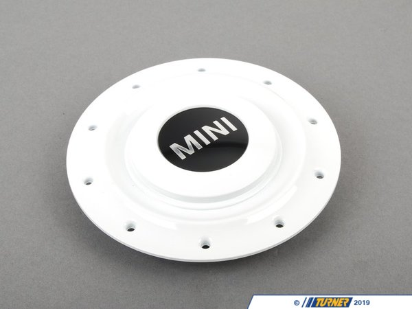 T#67380 - 36131512573 - Genuine MINI Hub Cap, White - 36131512573 - Genuine Mini -