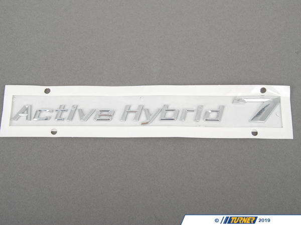 T#180008 - 51147346554 - Genuine BMW Lettering Right -Active Hybrid- - 51147346554 - Genuine BMW -