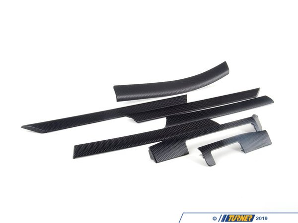 T#97490 - 51417830180 - Genuine BMW Set Of Decorative Strips, Al - 51417830180 - Black Cube - Genuine BMW -