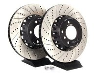 E82 135i, E9X BMW Performance ECS 2-Piece Front Brake Rotors - Pair (338x26)