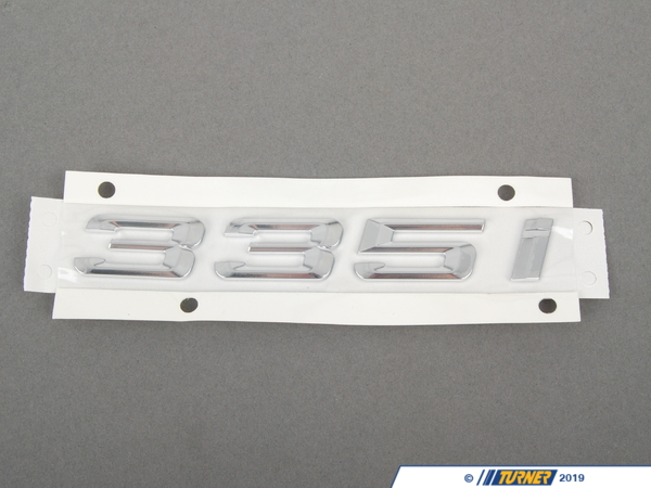 T#23665 - 51147289894 - Genuine BMW Label 335I - 51147289894 - F30 - Genuine BMW -