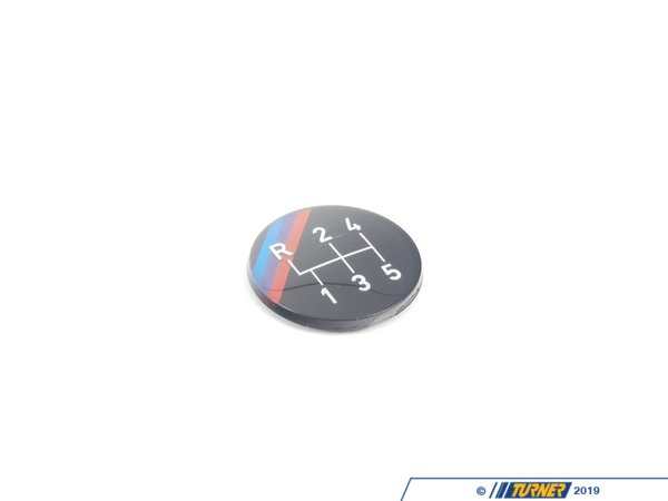 T#52512 - 25111220955 - 5-speed Dogleg M Technic Gearshift Emblem (Round) E23 E24 E28 E30 - Genuine BMW - BMW