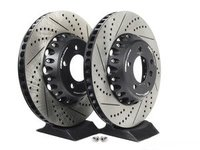 E9X 335d/i/xi ECS 2-Piece Front Brake Rotors - Pair (348x30)