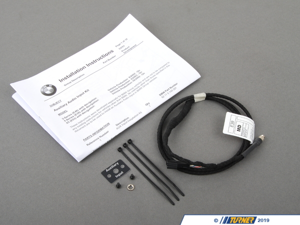 "T#11350 - 82110149391 - Genuine BMW Audio Auxiliary Input - E46, E39, E53 X5 04-06 - Only for cars with NavigationWhat to play your iPhone, iPod, or any other MP3 player through your E46 E39,, or X5 factory stereo? This Genuine BMW auxiliary input kit will allow you to connect any device with a standard 3.5mm (1/8"") headphone type jack. Plug the Aux Input into the back of your factor radio, run the included 5"" cable to a location of your choice (glovebox or under dash are popular locations) and mount the plug connector. This item fits the following BMWs:2003-2005  E46 BMW 325i 325ci 325xi 330i 330ci 330xi M3 - Only for cars with Navigation2003  E39 BMW 525i 530i 540i M5 - Only for cars with Navigation2004-2006  E53 BMW X5 3.0i X5 4.4i X5 4.6is X5 4.8is - Only for cars with Navigation - Genuine BMW - BMW"