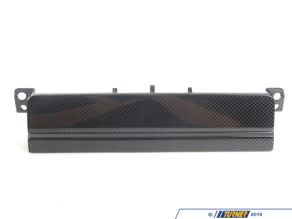 T#360 - 65107896770 - E46 CSL Carbon Fiber Radio Block-off Face Plate - Genuine European BMW - BMW