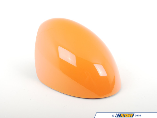 T#82005 - 51162162751 - Genuine MINI Cover, Mirror, Left Orange - 51162162751 - Genuine Mini -