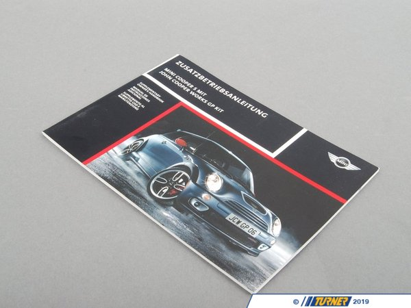 T#26922 - 01490012348 - Genuine MINI Suppl. Owner's Handbook Mult - 01490012348 - Genuine MINI -