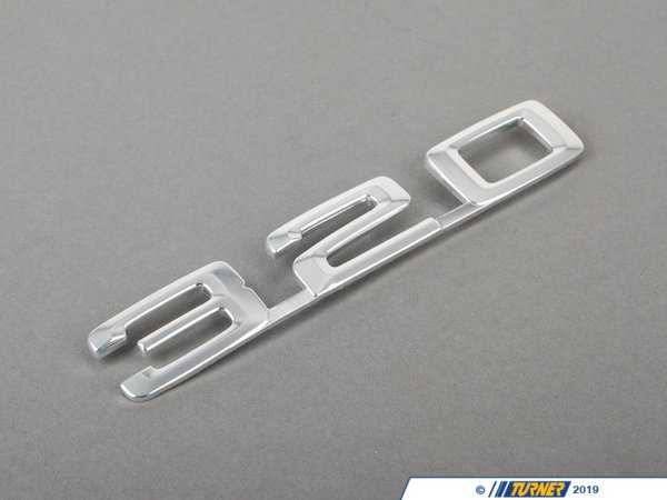 "T#8829 - 51141869972 - Genuine BMW Emblem Plugged In ""320"" - 51141869972 - Genuine BMW -"