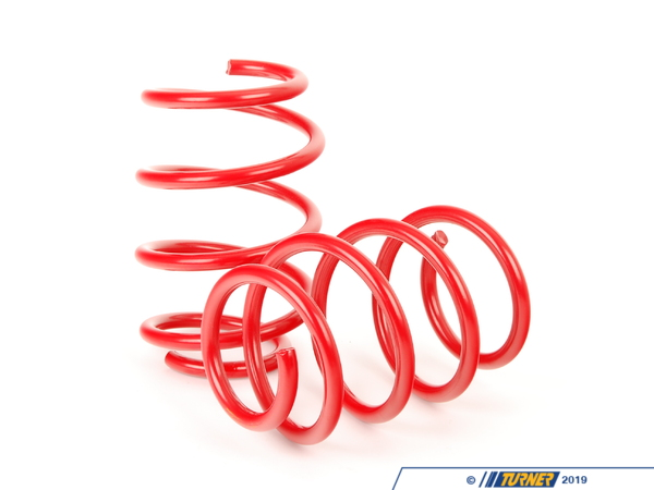 "T#3085 - 29053-2 - H&R Sport Spring Set - E93 M3 Convertible - This H&R Sport spring kit Lowers ride height by 1.0"" front, 0.6"" rear over the stock suspension. Direct from Germany, H&R Springs are the highest quality sport springs available. This spring set will help firm up what many consider to be a fairly ""soft"" stock suspension (at least for a BMW ""M"" car). They will also make a subtle and noticeable visual improvement to the E93 M3's stance, reducing the perceived fender gap of the stock ride height. This spring kit fits all 2008 and newer E93 M3 convertible, with AND without electronic dampening control (EDC).This item fits the following BMWs:2008+  E93 BMW M3 convertible - H&R - BMW"