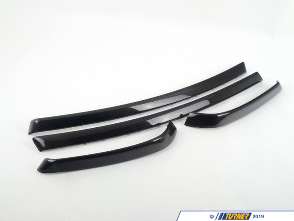 T#5184 - 51410416206 - BMW Door Panel Trim Set Carbon - E90 - Genuine BMW -