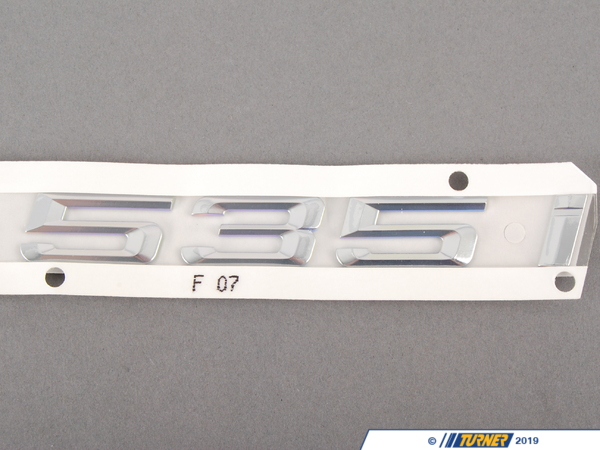T#81235 - 51147239614 - Genuine BMW Label - 535I - 51147239614 - Genuine BMW -