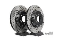 E82 1M, E9X M3 ECS 2-Piece Rear Brake Rotors - Pair (350x24)