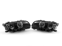 Depo European Blackout Angel Eye Projector Headlight Set - E46 Coupe/Convertible (09/2001+)