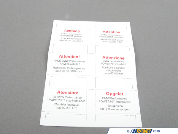 T#26084 - 01292160475 - Genuine BMW Stick-on Label - 01292160475 - Genuine BMW -