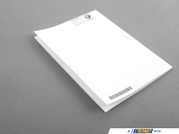 T#27109 - 01999787368 - Genuine BMW Brochure Service Contact, Ov - 01999787368 - Genuine BMW -