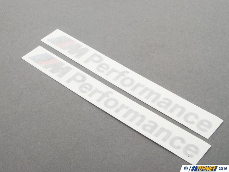 51142296551 Genuine Bmw M Performance Decal Set Turner