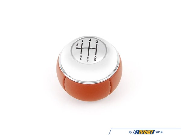T#52925 - 25117571066 - Genuine MINI Gearshift Knob, Leather/6-sp - 25117571066 - Genuine Mini -