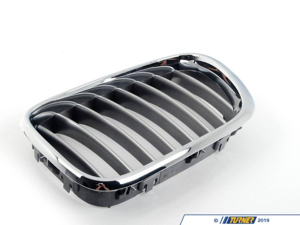 T#23615 - 51138250051 - Kidney Grill - Chrome Trim w Titanium Slats - Left - E53 X5 2000-2003 - Genuine BMW - BMW