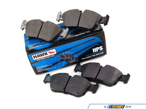 T#1105 - TMS1105 - Hawk HPS Street Brake Pads - Front - E36 (not M3), E46 (not 330/M3), Z3 (not M), Z4 2.5/3.0 - A high-performance street pad with much-improved braking performance and significantly reduced brake dust. The HPS pads are perfect for drivers who dont want an ordinary replacement pad and want something that will hold up for aggressive street. With the HPS pads you can expect:  Increased stopping power even when the pads are cold Longer pad life Low dust compared with other performance pads Quiet operation  In addition, the HPS pads are easy on rotors. And Hawk stands behind their pads with a limited lifetime warranty against defects.This pad set includes pads for both FRONT brakes.FRONT SET This item fits the following BMWs:1992-1999  E36 BMW (no M) including 318i, 318is, 325i, 325is, 328i, 328is & 323is1999-2005 E46 BMW (no 330/M) including 323i, 323Ci, 325i, 325xi, 325Ci, 328i, 328Ci1996-2002 Z3 BMW (no M) including Z3 1.9, 2.3, 2.5, 2.8 & 3.0 liter2003-2008 Z4 BMW (no M or si) including Z4 2.5 & Z4 3.0 (no si!) - Hawk -