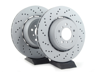 Front Cross Drilled Brake Rotor Pair (360x30) - E9x M3, E82 1 M