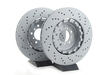T#341255 - 34112283802KT - Front Cross Drilled Brake Rotors - Pair (360x30) - Zimmermann -